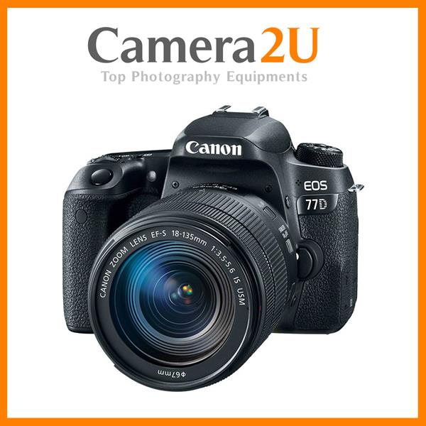 NEW EOS 77D + 18-135mm IS USM Lens + 16GB + Bag (Canon MSIA)