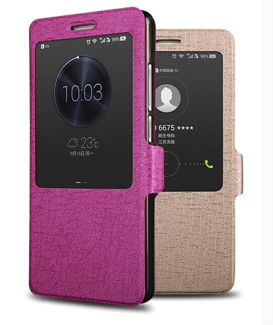 EOT Huawei Ascend Mate 7 Flip Smart Case Cover + 2pcs Free SP