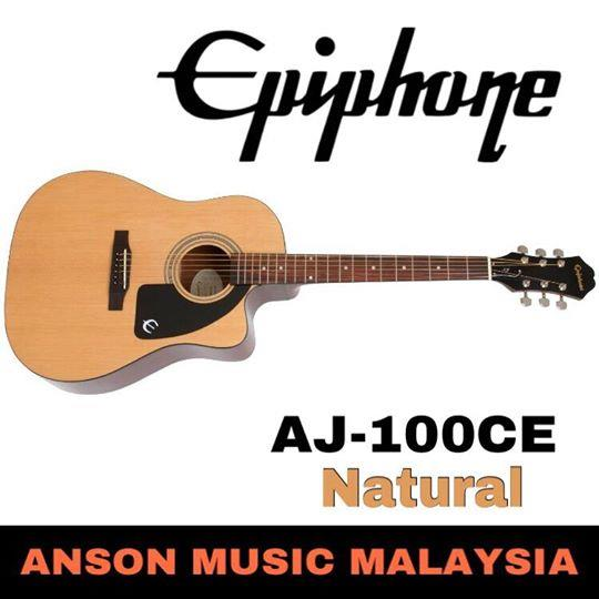 Epiphone AJ-100CE Acoustic-Electric Guitar, Natural