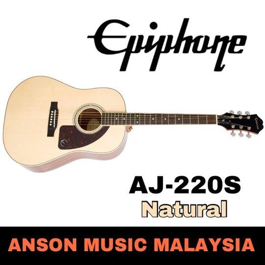 Epiphone AJ-220S Acoustic Guitar, Natural