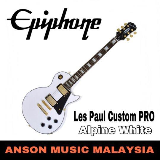 Epiphone Les Paul Custom PRO Electric Guitar, Alpine White