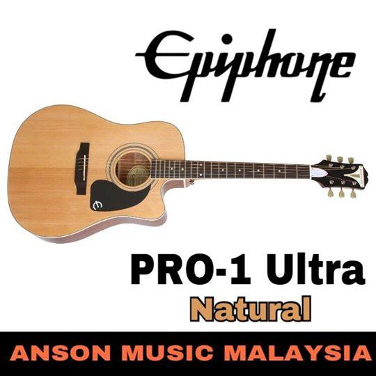 Epiphone PRO-1 ULTRA Acoustic-Electric Guitar, Natural