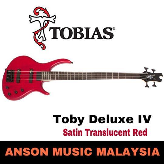 Epiphone Toby Deluxe-IV 4-String Bass, Satin Translucent Red