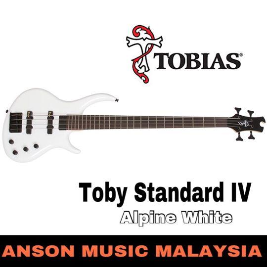 Epiphone Toby Standard IV 4-String Bass, Alpine White