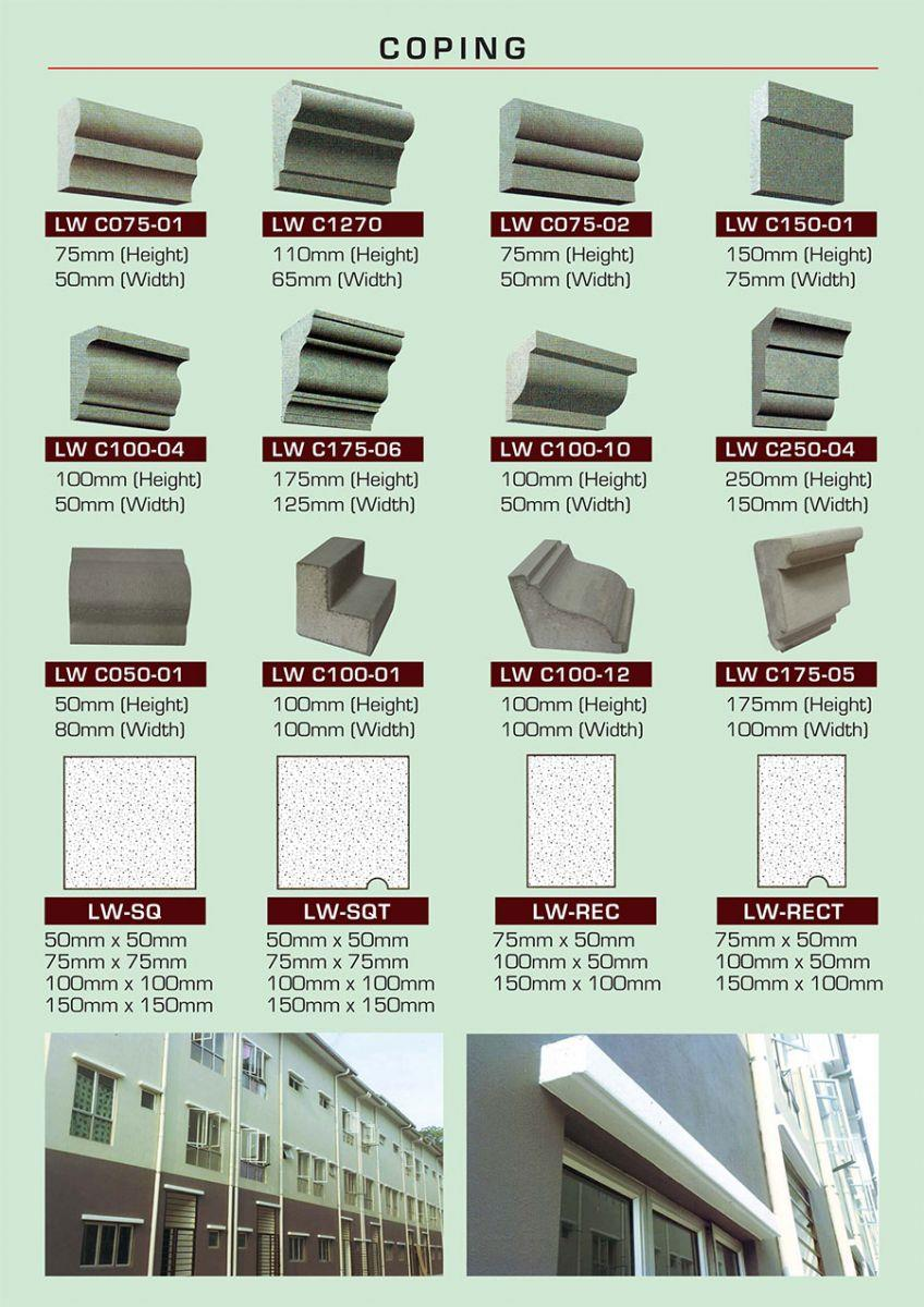 Eps coping expanded polystyrene sheet cement foam Malaysia