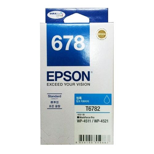 Epson 678 Cyan Ink Cartridge Standard Capacity 1.2k (C13T678290)