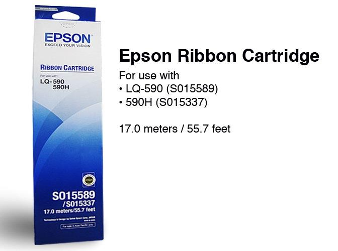 Epson C13S015589 Black Ribbon - LQ-590
