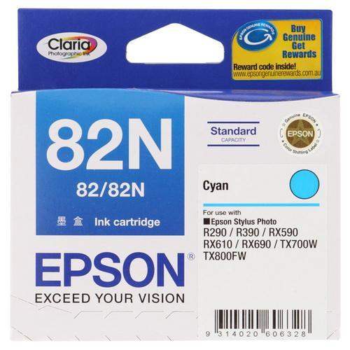 EPSON CYAN INK CARTRIDGE, 82N