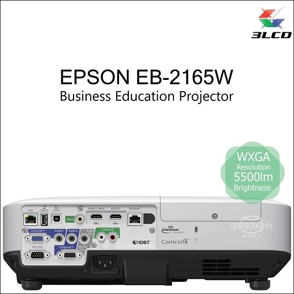 Epson EB-2165W 3LCD WXGA Business Education Projector (Old EB-1975W)
