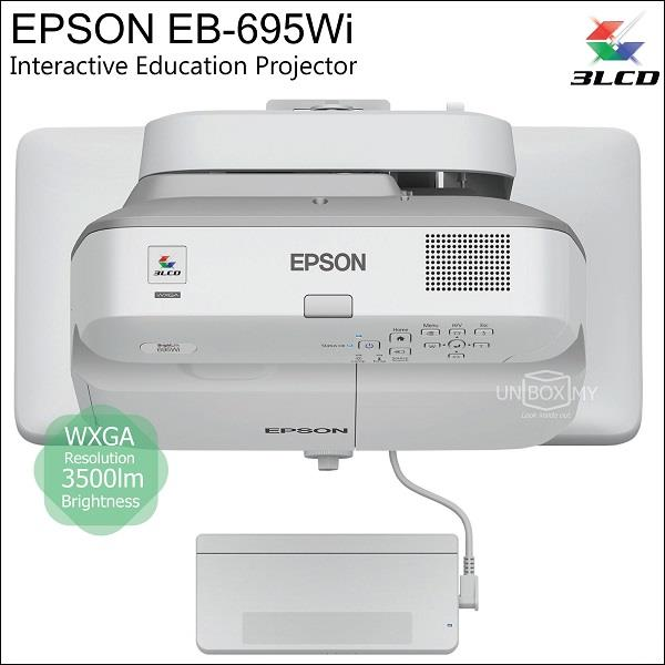 Epson EB-695Wi 3LCD WXGA UST Interactive Projector (Old EB-595Wi)