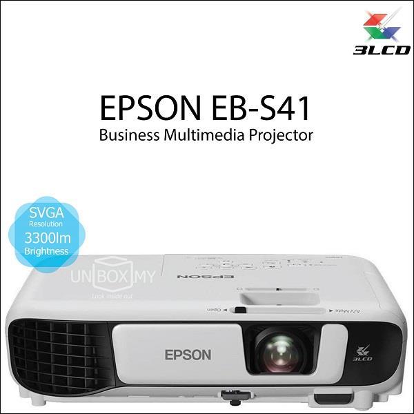 ea150d674b3 Epson EB-S41 3LCD SVGA 3300 lumens Portable Projector (Old EB-S31)