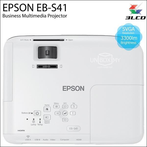 Epson EB-S41 3LCD SVGA 3300 lumens P (end 11/9/2018 8:15 PM)