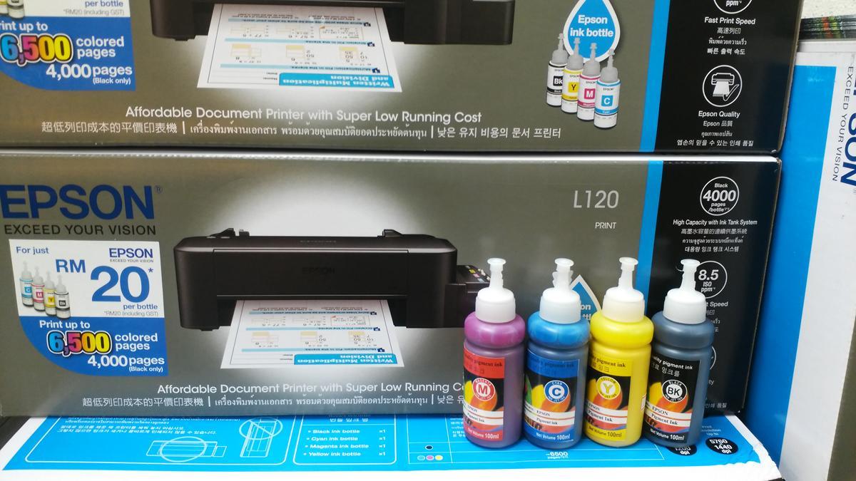 Printer Epson L120 Spec Dan Daftar Harga Terbaru Indonesia Tinta Bundle With Sublimation Ink Or Pigment