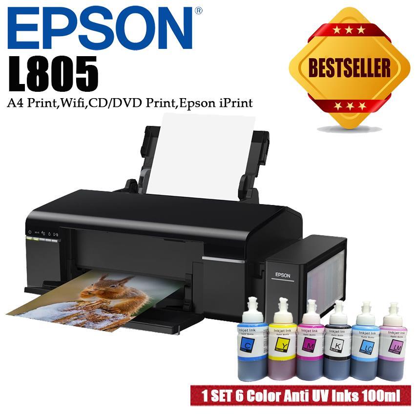 Epson L805 6 Color PrintCD Print Printer With Anti UV Inks
