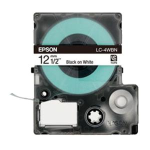 Epson LabelWorks 12mm Black on White Tape (LK-4WBN)