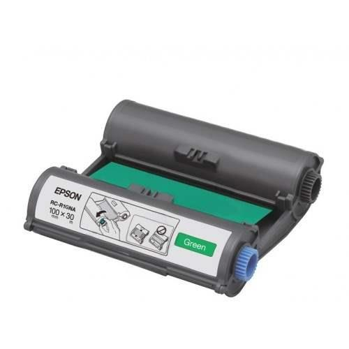 Epson LabelWorks Tape - 100mm Green Ribbon (RC-R1GNA)