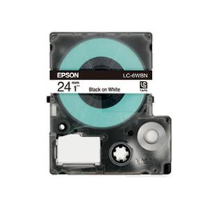 Epson LabelWorks Tape - 24mm Black on White Tape, LC-6WBN