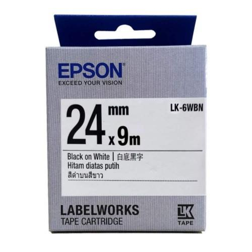 Epson  LabelWorks Tape - 24mm Black on White Tape (LK-6WBN)