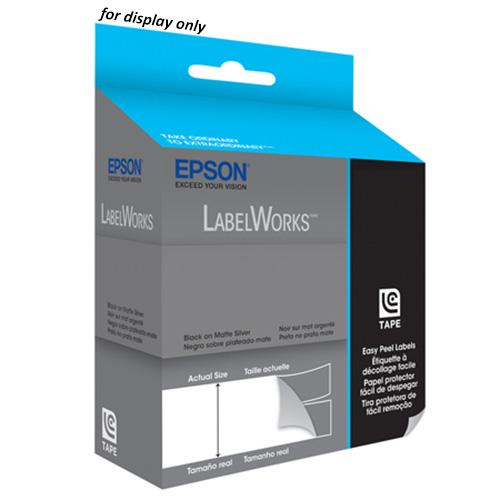 Epson LabelWorks Tape 9M 18mm Black on Pink Tape, LC-5PBQ