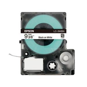 Epson LabelWorks Tape 9mm Black on White 9 Meter (LK-3WBN)