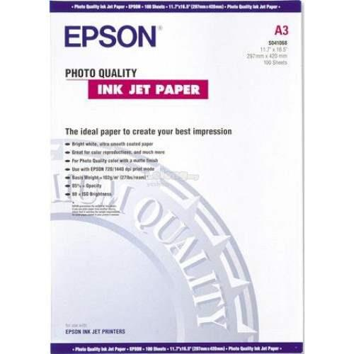 Epson Photo Quality Inkjet Paper - A3 - 100sheets - 102g (SO41068)