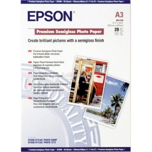 Epson Premium Semigloss Photo Paper A3 20's 251g (S041334)