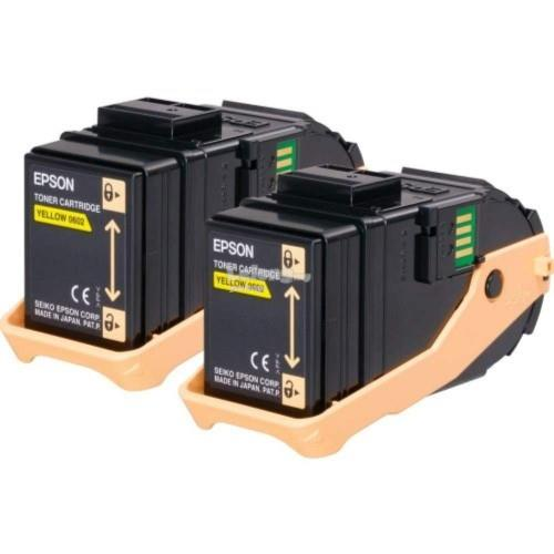 Epson SO50606 Double Pack Yellow Toner (SO50606)