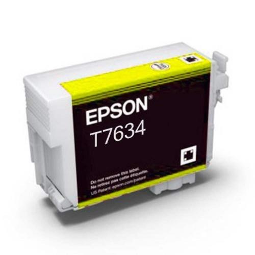 Epson T7634 Ink Cartridge - Yellow (T763400)