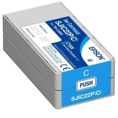 Epson TM-C3510 SJIC23P Ink Cartridge Cyan (SJIC23P C)