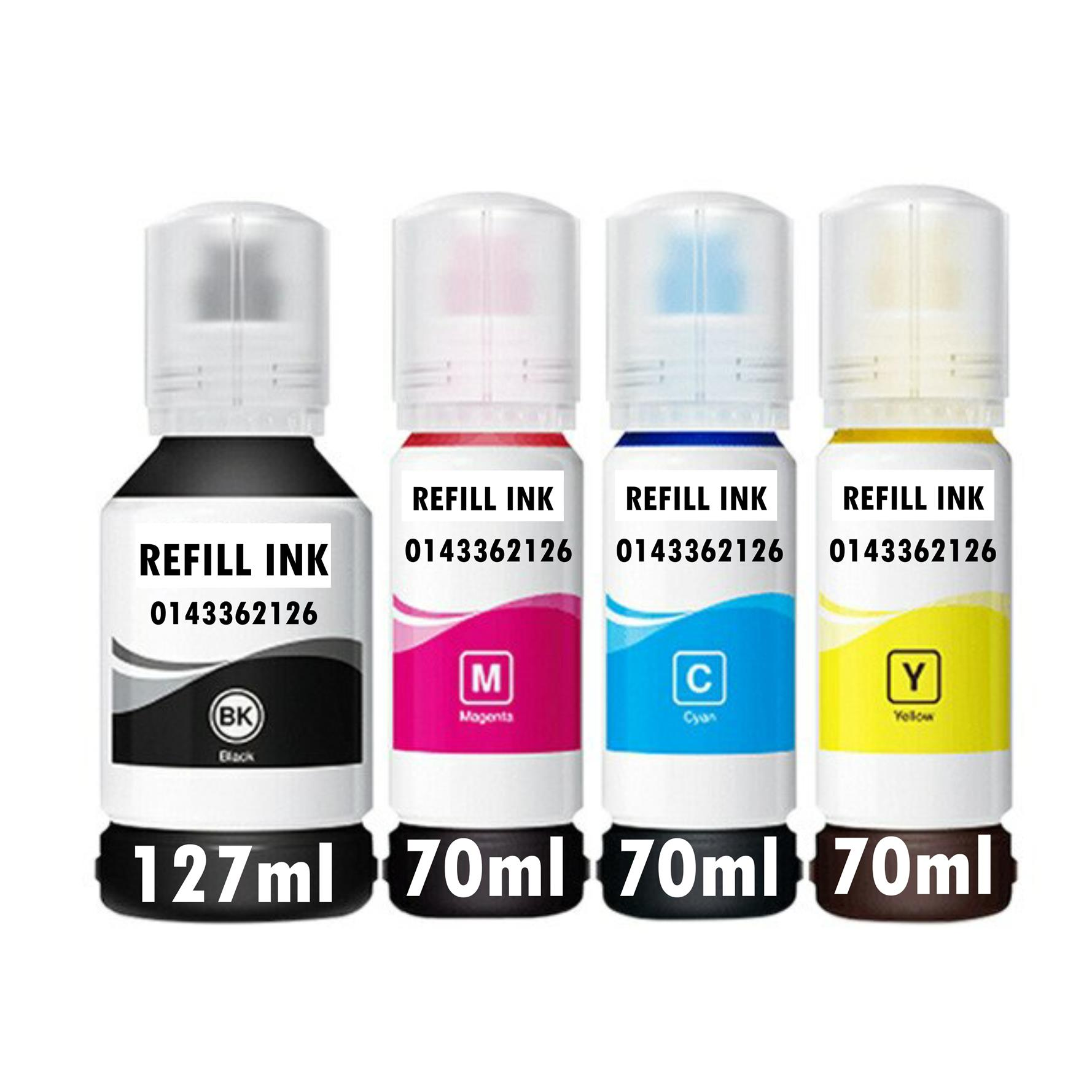 New Epson V100 003 CMYK Compatible ink Set (4btls)L1110 L3110 L3150