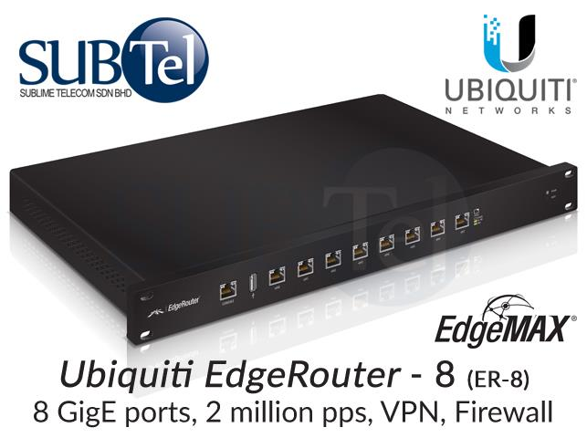 ER-8 Ubiquiti Edge Router UBNT Malaysia 8 port Gigabit BGP OSPF IPv6