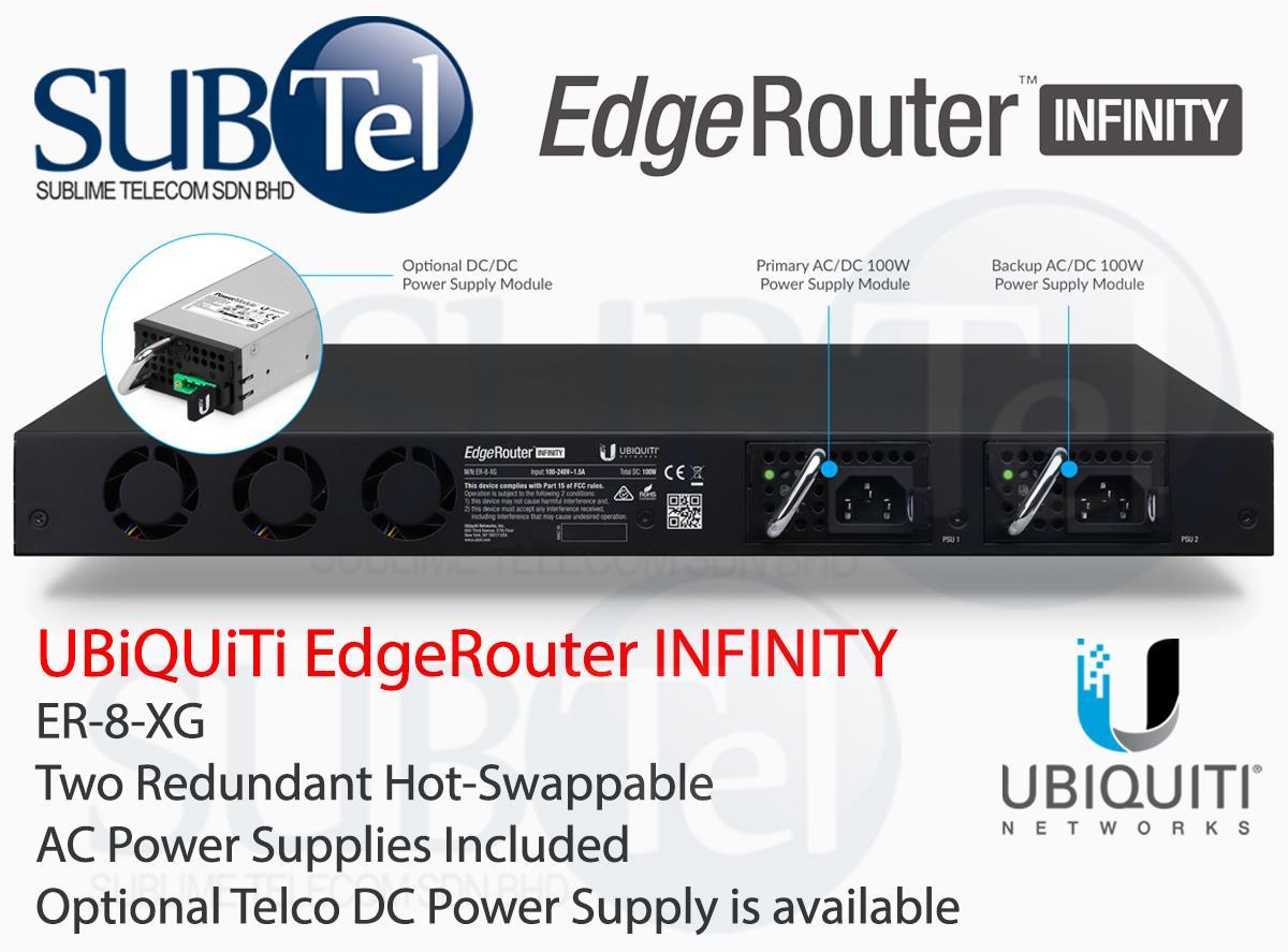 ER-8-XG Ubiquiti EdgeRouter INFINITY 10G SFP+ Router BGP OSPF MPLS