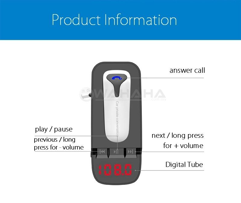 ER9 Bluetooth Headset FM Transmitter MP3 Radio Adapter Car Kit