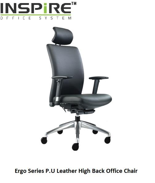 Ergo Series P.U Leather High Back Office Chair