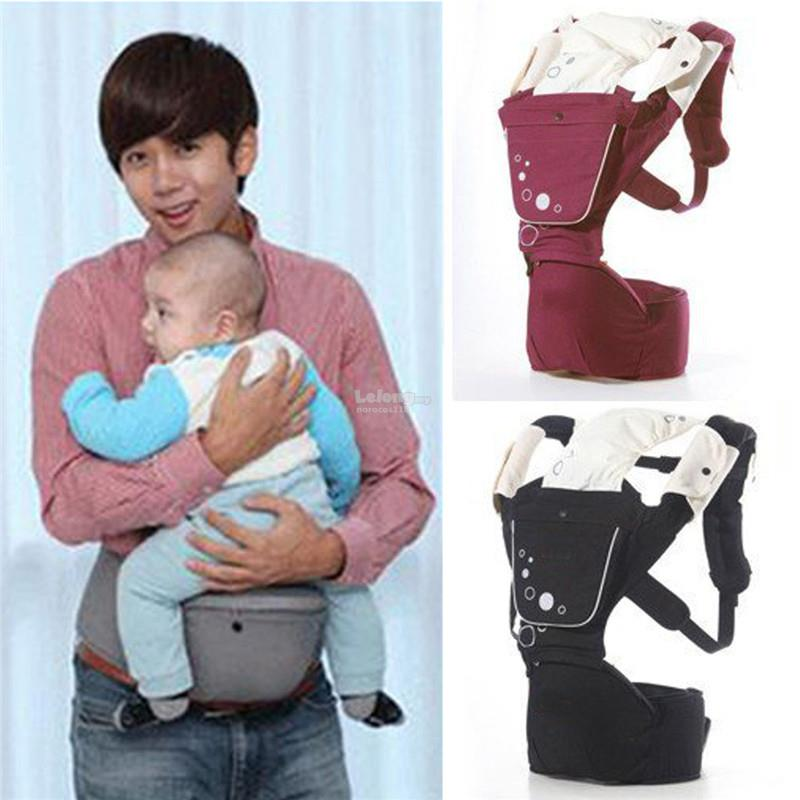 Ergonomic Cotton Infant Newborn Baby Carriers Backpack Front Back Hip