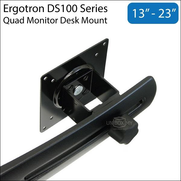 Ergotron DS100 13~23 inch Quad Monitor LCD Desk Mount Stand