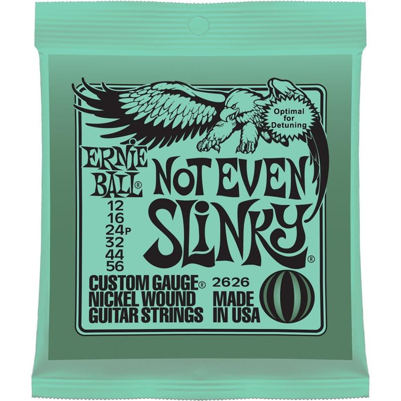 Ernie Ball 2626 Electric Guitar Strings 12-56 Not Even Slinky