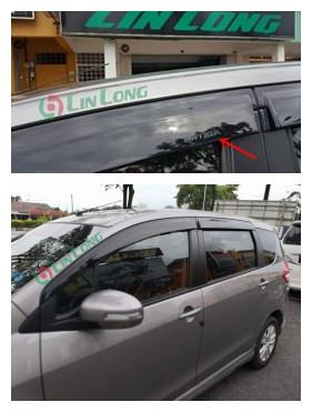 Ertiga quality door visor oem injection