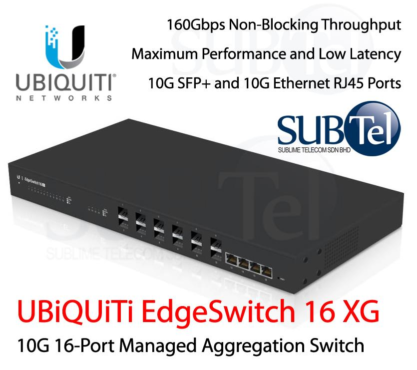 ES-16-XG Ubiquiti EdgeSwitch 10G Smart Switch 16 port SFP+ 10GBaseT
