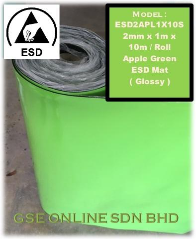 ESD ( Anti Static ) Apple Green Mat , ESD2APL1X10S