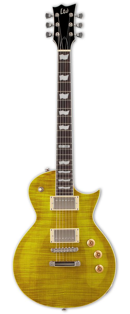 ESP LTD EC-256 LD Electric Guitar Lemon Drop Flamed Maple/Body
