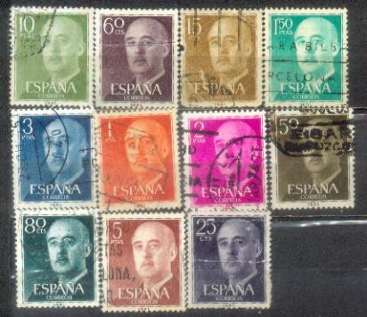Espana 11 Nice Stamps Lot 1