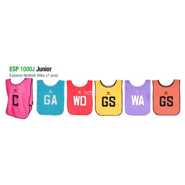 Espana Junior Single Side Netball Bibs 7pcs ESP1000J