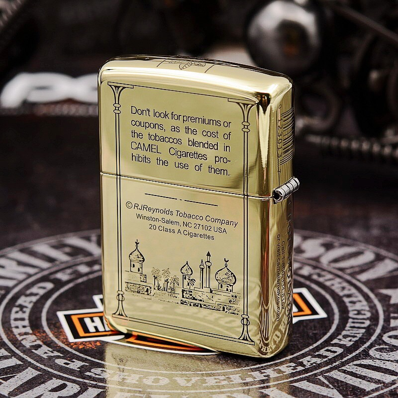 Etching Brass Armor 5 Side Camel Zippo Lighter
