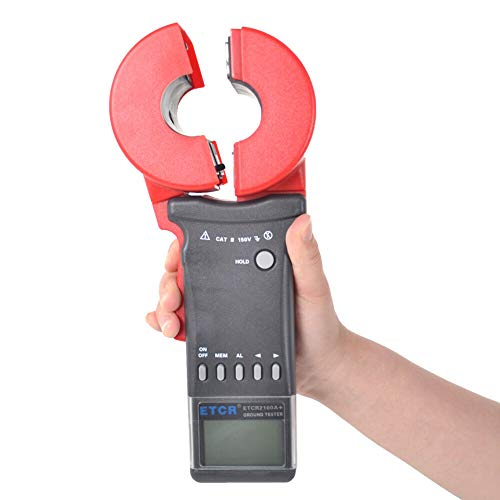 ETCR2100A+ Digital Clamp Ground Earth Resistance Tester Meter 0.01Ω-200Ω