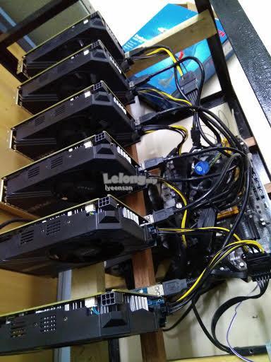 ETHERIUM Mining RIG 6 GPU P106-100 130mh stock speed