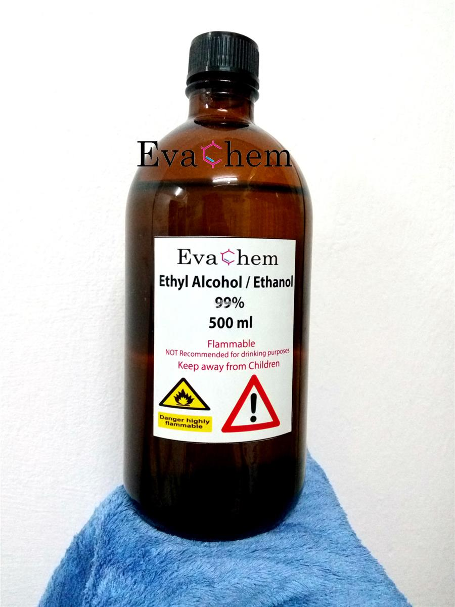 Ethyl Alcohol/ Ethanol 99.9% (DENATURED) - 500ml in amber bottle