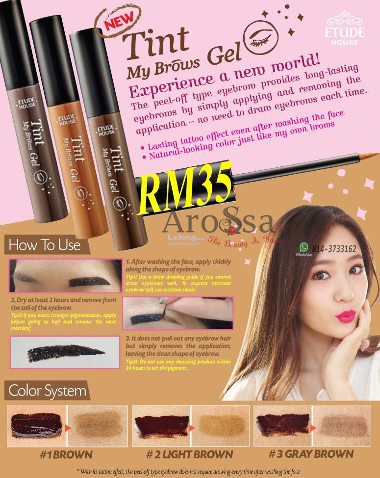 c79fa35e19d Etude House Tint My Brows Gel End 7 13 2017 10 15 Pm. Review Etude House  Peel Off Eyebrow Tint K Health Beauty