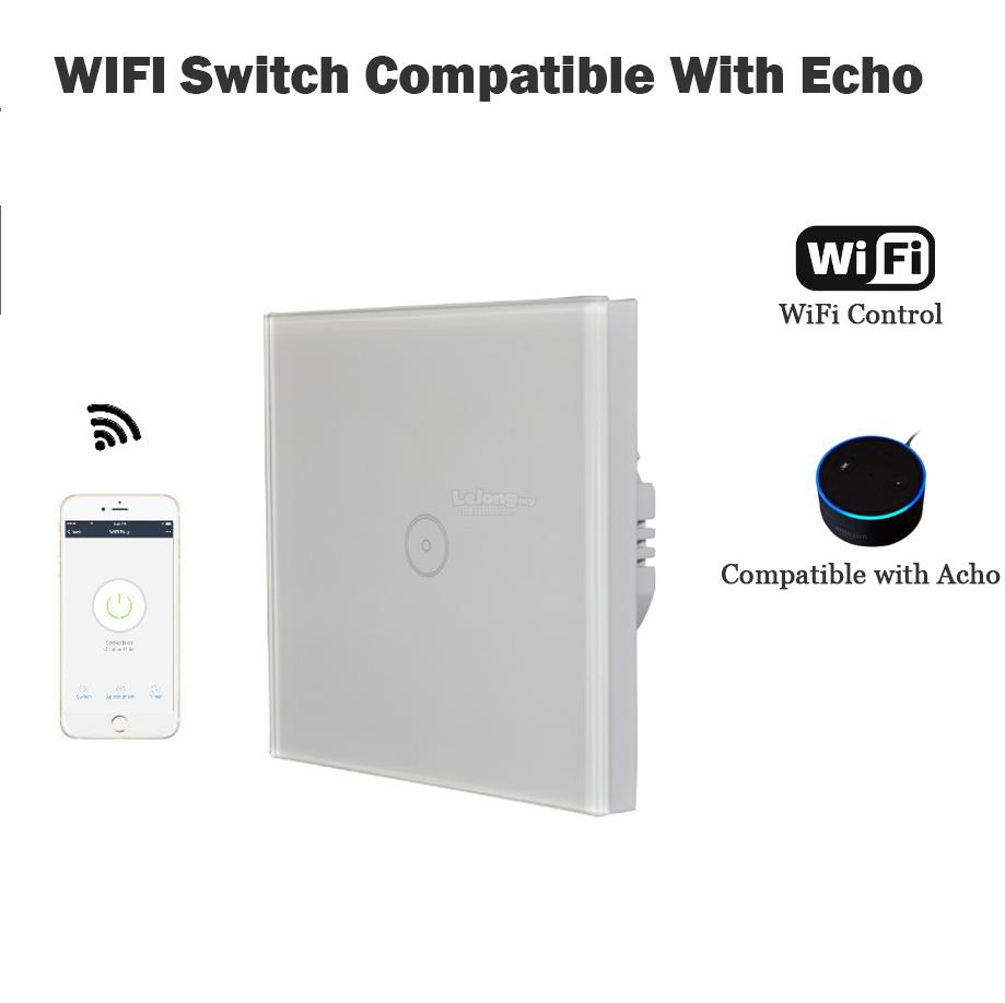 EU Timer Wifi Power wall switch plug outlet App control 1.2.3 socket