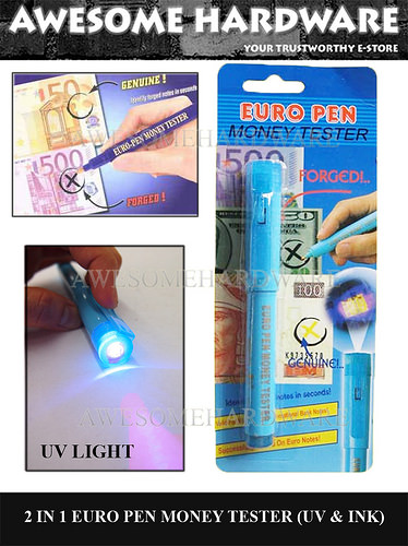 euro pen money detector money tester counterfeit money with uv